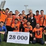 2 место на чемпионате Hyundai по футболу